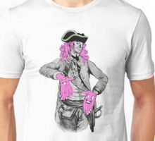 Portrait of Colonial Officer with Large Pink Face-Hands Unisex T-Shirt