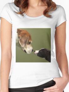 Nose To Nose Dogs 2 Women's Fitted Scoop T-Shirt