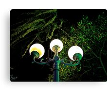 Street Lights, Canal, Yangzhou Canvas Print