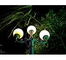 Street Lights, Canal, Yangzhou Photographic Print