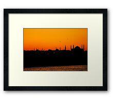 Istanbul sunset Framed Print