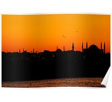 Istanbul sunset Poster