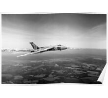 Vulcan in flight 2, black and white version Poster
