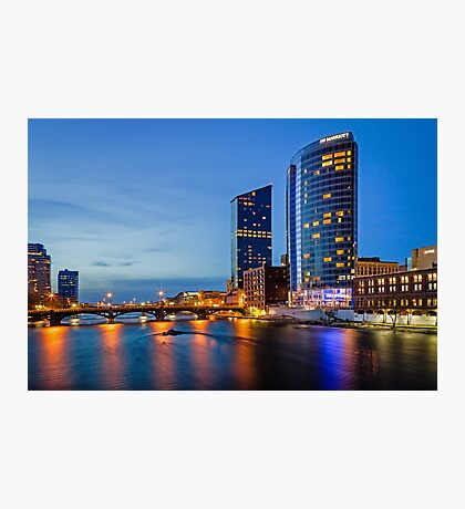 The Grand River at Night Photographic Print