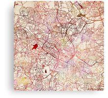 Birmingham map watercolor Canvas Print