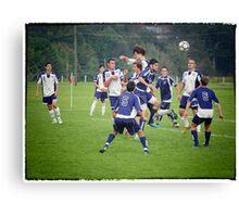 Defending The Goal Canvas Print