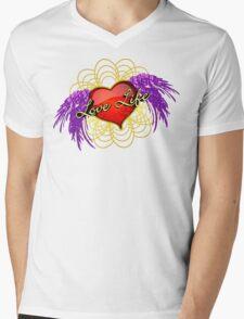 Love Life Vector 2 Mens V-Neck T-Shirt