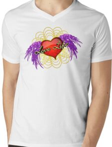 Love Life Vector 2 Mens V-Neck T-Shirt