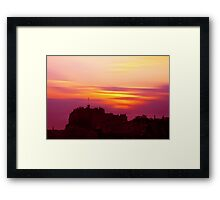 Edinburgh Castle Sunset Framed Print