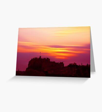 Edinburgh Castle Sunset Greeting Card