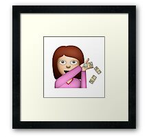 Make It Rain Emoji Design - DROP THOSE DOLLAS. Framed Print