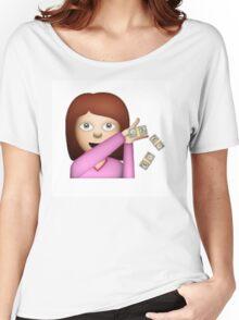 Make It Rain Emoji Design - DROP THOSE DOLLAS. Women's Relaxed Fit T-Shirt