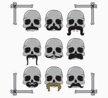 Nine Hairy Skulls Kids Tee