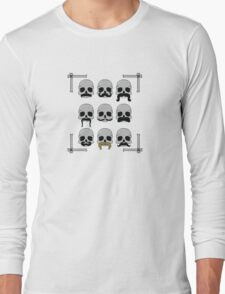 Nine Hairy Skulls Long Sleeve T-Shirt