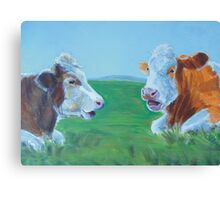 Chit Chat Canvas Print