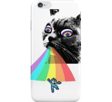 Rainbow Cat vs Mega Man iPhone Case/Skin