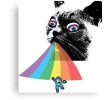 Rainbow Cat vs Mega Man Canvas Print
