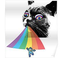Rainbow Cat vs Mega Man Poster