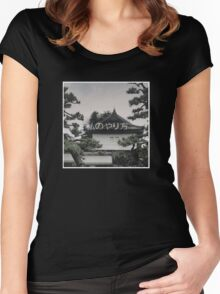 rare japanese smoke palace Women's Fitted Scoop T-Shirt