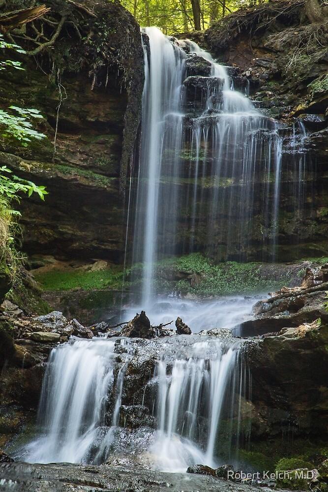 Horseshoe Falls, Munising, Michigan by Robert Kelch, M.D.