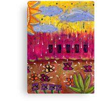 Raindrops on Petals Canvas Print