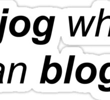 jog blog Sticker