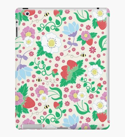 Strawberries and Bees iPad Case/Skin