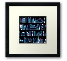 Keep Reading. Black. Framed Print