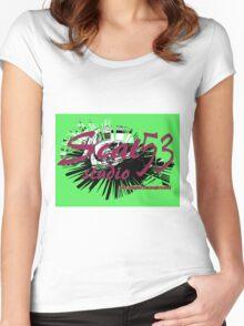 Scat 53 Studio logo Women's Fitted Scoop T-Shirt