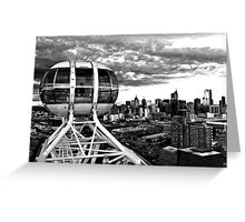 0359 Melbourne Star View BW Greeting Card