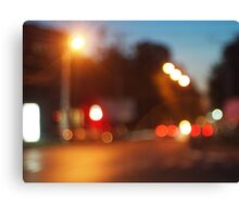 Blurred lights of cars Canvas Print