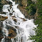 Section of Hidden Falls in the Grand Teton Range by Kenneth Keifer