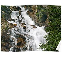 Section of Hidden Falls in the Grand Teton Range Poster