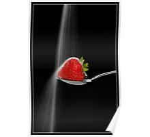 Strawberry and Sugar Waterfall Poster