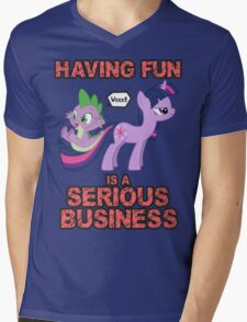 Fun is serious business Mens V-Neck T-Shirt