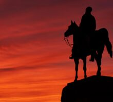 Gettysburg National Park - Meade Memorial - Sunset Sticker