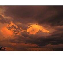 Evening sky after sunset and before thunderstorm Photographic Print