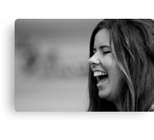 Woman Laughing Canvas Print