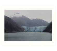 Sawyer Glacier in Tracy Arm Fjord in Alaska .... Art Print