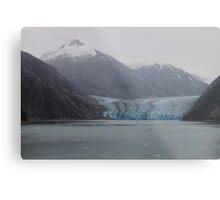 Sawyer Glacier in Tracy Arm Fjord in Alaska .... Metal Print