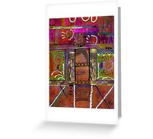 SEEING LIFE with my eyes shut tight Greeting Card