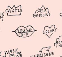 Badlands Tracklist Art Sticker