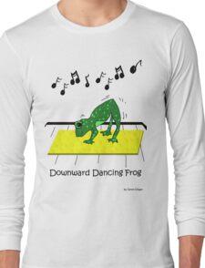Downward Dancing Frog Yoga Long Sleeve T-Shirt