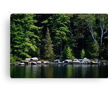 Along The Water's Edge - Shades of Green Series Canvas Print