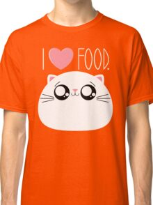 Cats Love Food Classic T-Shirt