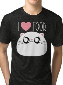 Cats Love Food Tri-blend T-Shirt
