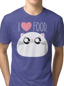Cats Love Food Tri-blend T-Shirt