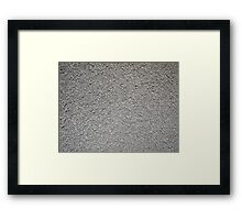 Uneven surface of the gray cement Framed Print