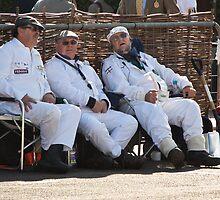 Goodwood Revival 2011, Resting Marshalls by herbpayne