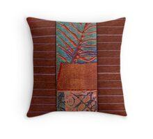 Copper Leaf Throw Pillow